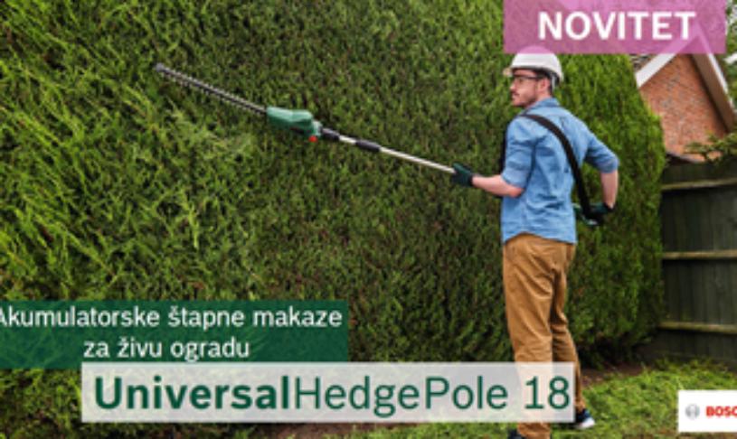 Akumulatorske štapne makaze za živu ogradu UniversalHedgePole 18